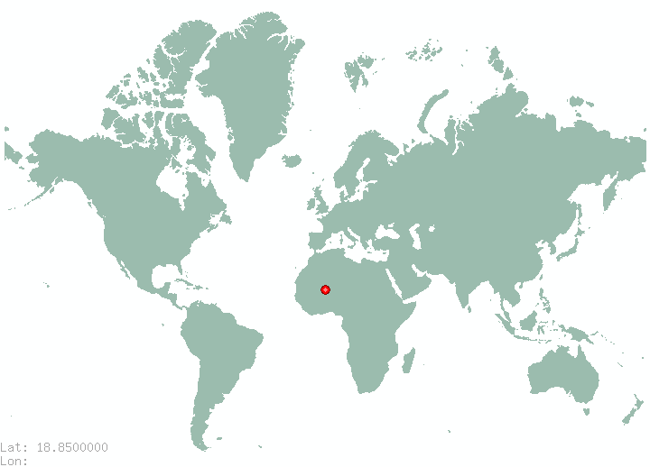 Las Ovejas in world map