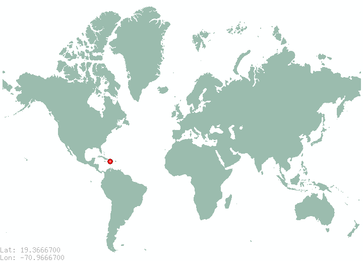 Canada Del Caimito In World Map